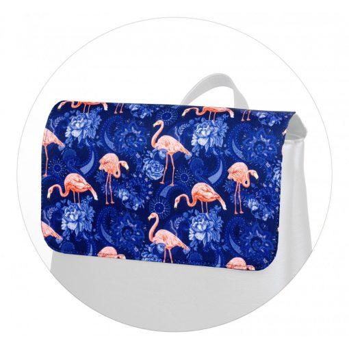 Kora maxi fedél kék flamingó