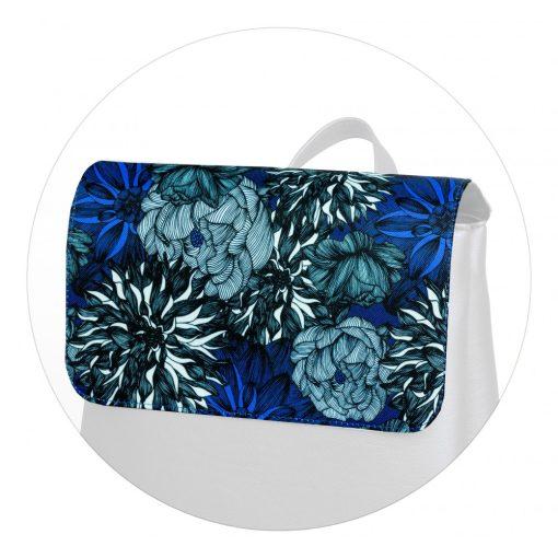 Kora maxi fedél kék virágminta